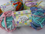 Hollywood Special Effects  by Yarn Bee Yarns,  Polyester Blend Ribbon Yarn, 100 gm - Felted for Ewe