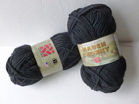 20% off Retail Black Mauch Chunky by Kraemer Yarns, 100 gm Felting Wool - Felted for Ewe