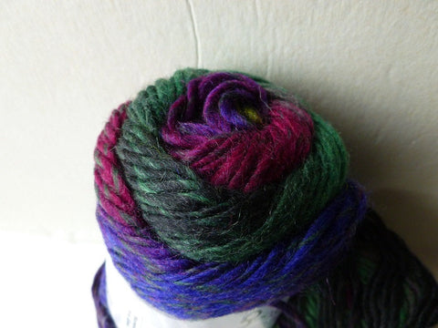 Purple, Green and Maroon Marvelous Pure Wool by Ice - Felted for Ewe