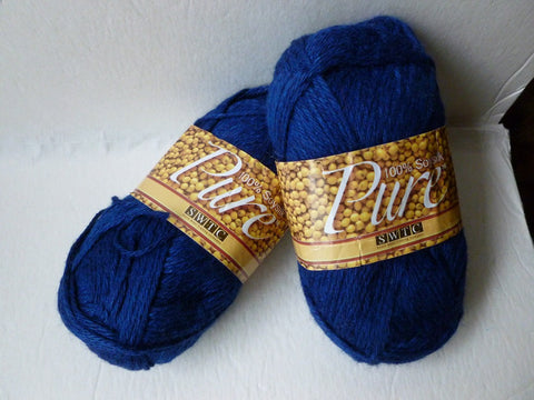 Navy 72 Pure Soysilk SWTC Yarn - Felted for Ewe
