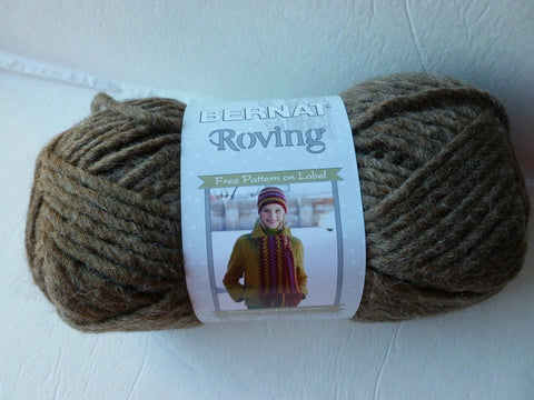 Bark Roving  by Bernat, Acrylic Wool Blend, Bulky, Machine Wash - Felted for Ewe