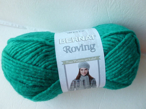 Teal Roving  by Bernat, Acrylic Wool Blend, Bulky, Machine Wash - Felted for Ewe