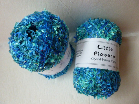 Ultra Blues 9757 Little Flowers by Crystal Palace Yarns - Felted for Ewe