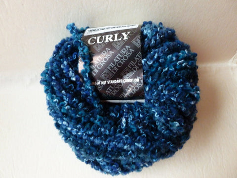 Blues 118 Curly  by Filatura DiCrosa Yarn - Felted for Ewe