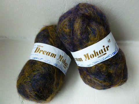 Brown and Purple Dream Mohair by Idena Yarn - Felted for Ewe
