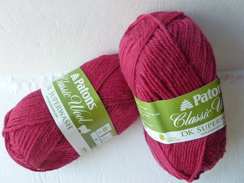 Claret Heather Classic Wool  DK Superwash by Patons - Felted for Ewe