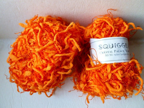 Mango Orange 2268 Squiggle Solid by Crystal Palace Yarns - Felted for Ewe