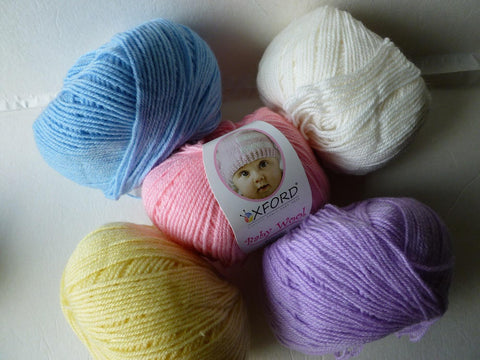 Baby Wool by Oxford, Machine Washable, 50/50 Wool Acrylic, Light Worsted - Felted for Ewe