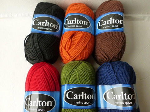 Merino Sport by Carlton. Wool Blend, DK Light Worsted, 50 gm - Felted for Ewe