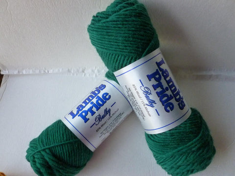 Christmas Green Lamb's Pride Bulky  - Seconds -by Brown Sheep Company - Felted for Ewe