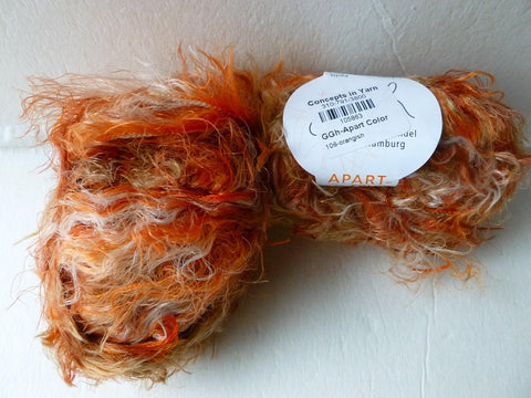 Orangish 106  Apart Color by GGH Garn GroBhandel Hamburg - Felted for Ewe