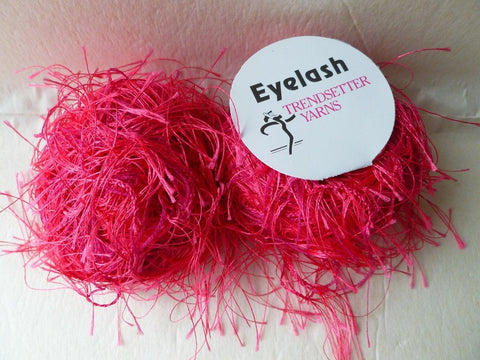 Hot Pink 31  Eyelash  by Trendsetter Yarns - Felted for Ewe