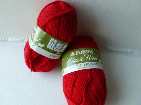 Red  Classic Wool  DK Superwash by Patons - Felted for Ewe