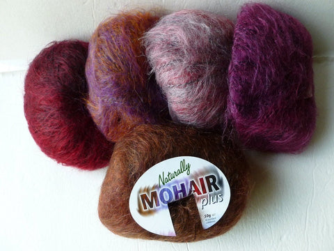 Mohair Plus by Naturally, Bulky, 109 yrds - Felted for Ewe