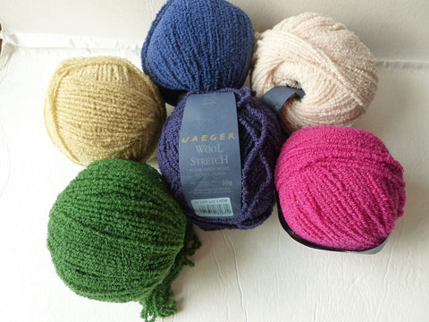 Wool Stretch by Jaeger Yarn, Pure new wool with Lycra - Felted for Ewe