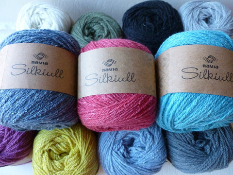 10% Off Retail  Silkiull by Navia Yarns,  Silk Wool Blend, 50 gm, Sport Weight - Felted for Ewe