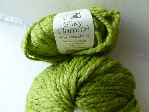 Silky Flamme Designer's Choice by Elsebeth Lavold,  Wool Silk Blend, Bulky 50 gm - Felted for Ewe