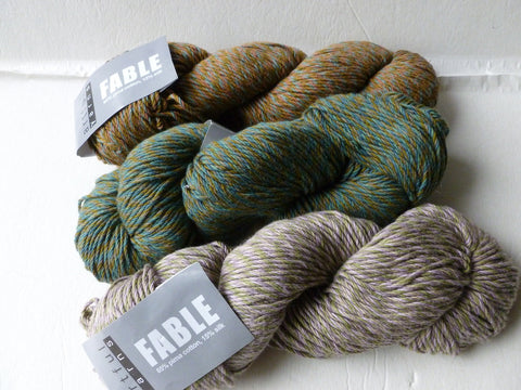 Fable by Artful Yarns, 100 gm, Cotton Silk Blend, Aran - Felted for Ewe