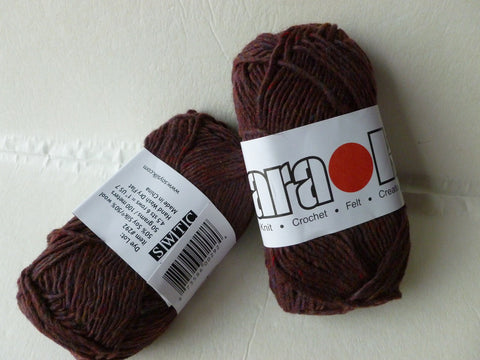 Deep Burgundy Tweed 292 - Karaoke by SWTC - Felted for Ewe