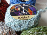 Madras by Laines Du Nord,  Bulky Wool  and Ribbon Blend, 50 gm - Felted for Ewe