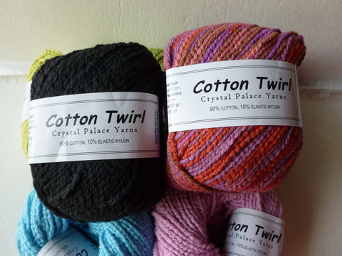 Cotton Twirl by Crystal Palace Yarns, Solid and Variegated Cotton, 50 gm - Felted for Ewe