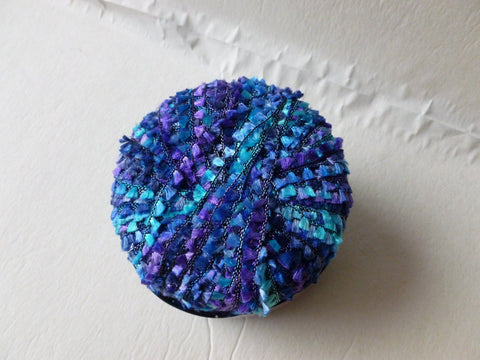 Cobalt 3266 Electra The Italian Collection by Plymouth Yarn, Ribbon, Flags - Felted for Ewe