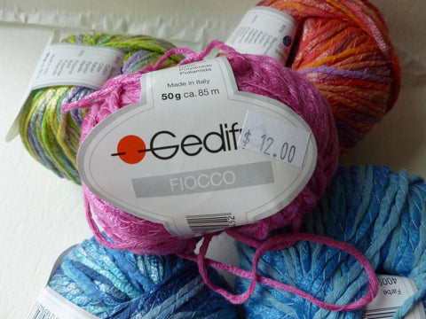 Fiocco by Gedifra Yarn,  Heavy Worsted Aran, Cotton Blend Yarn, 50 gm - Felted for Ewe