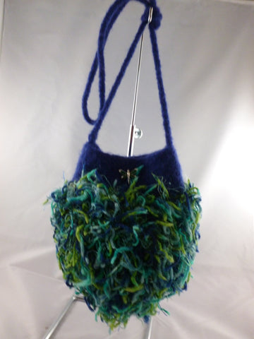 Felted Purse, Party Balloon Felted Bag, Purse with Fun Specialty Yarn - Felted for Ewe