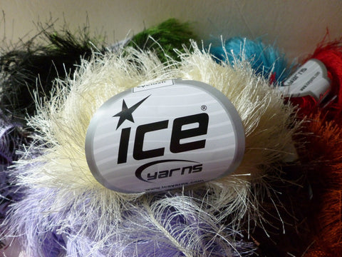"Long Eyelash Yarn by ICE, 1 1/2"" Lash, Bulky - Felted for Ewe"