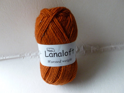 Pumpkin Spice Lanaloft worsted - Seconds - by Brown Sheep Company - Felted for Ewe