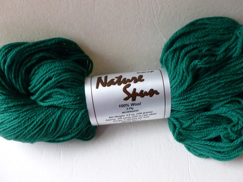 Elf Green Nature Spun Worsted  by Brown Sheep Company - Felted for Ewe