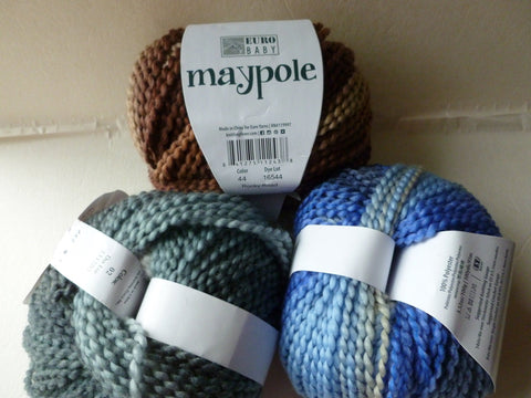 May Pole by Euro Baby, Bulky, 100 gm, Self Striping Yarn - Felted for Ewe