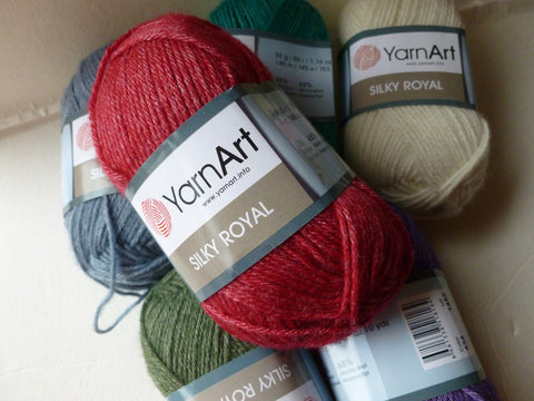 Silky Royal by Yarn Art. Silk and Wool Blend, - Felted for Ewe
