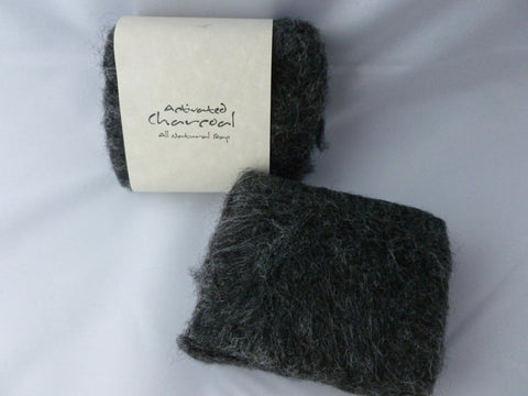 Felted Soap, Handmade Felted Soap - Activated Charcoal - Felted for Ewe