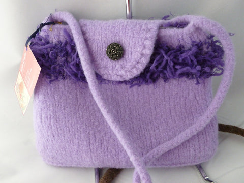 Hand Knit Small Felted Purse, Felted Shoulder Bag, Multiple Colors - Felted for Ewe