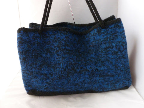 Hand Knit Felted Shopping Bag, Ex Large Felted Purse
