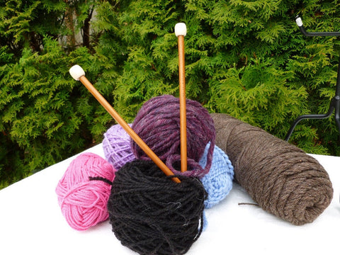 9 inch Bamboo Knitting Needles (0-11, 13 & 15) - Felted for Ewe