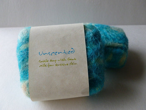 Felted Soap, Handmade Felted Soap - Unscented - Felted for Ewe