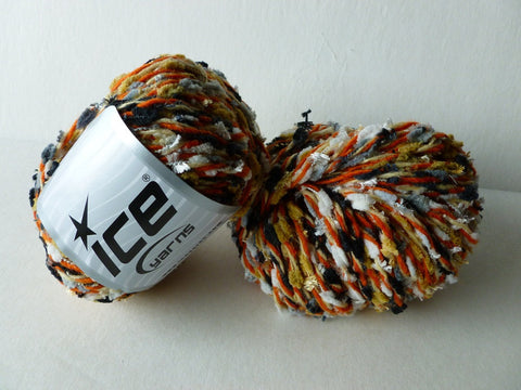 Wool Blendy Grey, White and Burnt Orange Yarn by ICE - Felted for Ewe