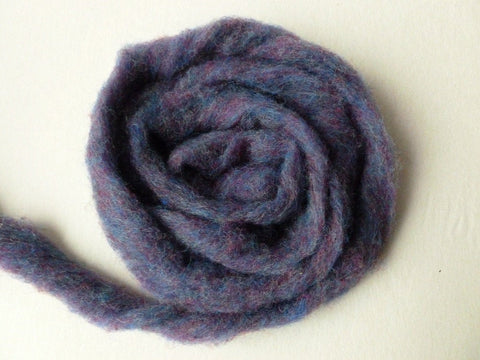Wool Roving Larkspur Heather by Bartlett yarns - Felted for Ewe