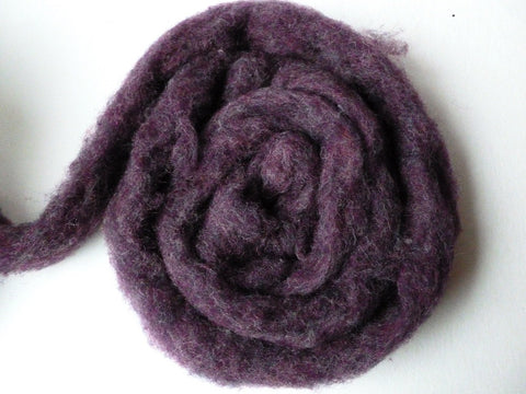 Wool Roving Blackberry Heather  by Bartlett yarns - Felted for Ewe