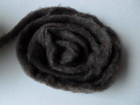 Wool Roving, Dark Heather by Bartlett yarns - Felted for Ewe