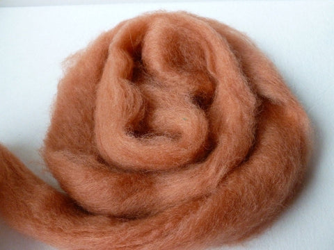 Red Rock Romney and Merino Blend Wool Roving - Felted for Ewe