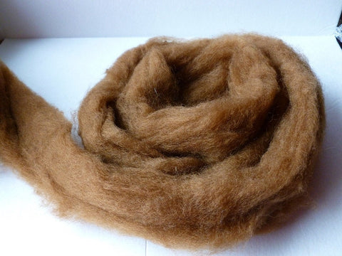 Chestnut Romney and Merino Blend Wool Roving - Felted for Ewe