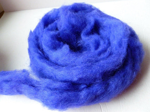 Royal Purple Romney and Merino Blend Wool Roving - Felted for Ewe