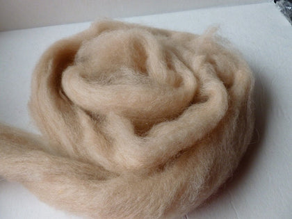 Flesh Romney and Merino Blend Wool Roving - Felted for Ewe
