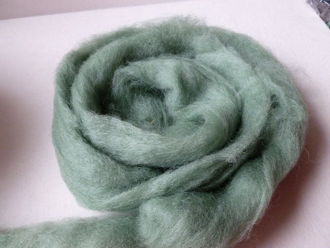 Blue Spruce Romney and Merino Blend Wool Roving - Felted for Ewe