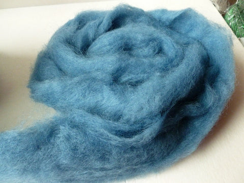 China Blue Romney and Merino Blend Wool Roving - Felted for Ewe