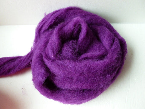Red Plum Romney and Merino Blend Wool Roving - Felted for Ewe