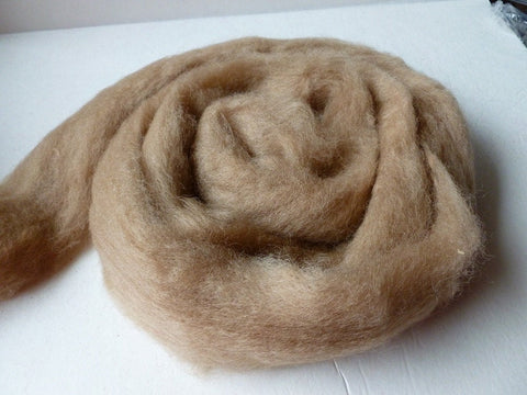 Light Brown Romney and Merino Blend Wool Roving - Felted for Ewe